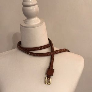 Brown belt with beads